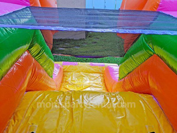 slide of unicorn fairytale bounce house