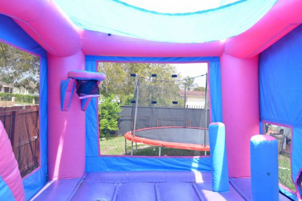 basketball hoop pink castle combo