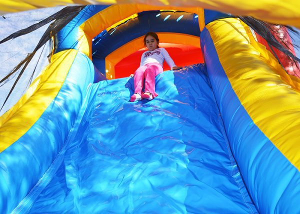 slide of royal bounce house combo