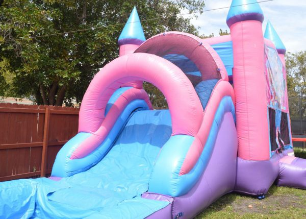slide pool pink castle combo