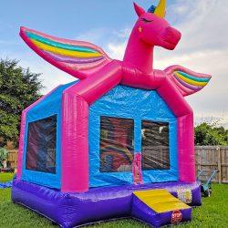 3D Unicorn Bounce House