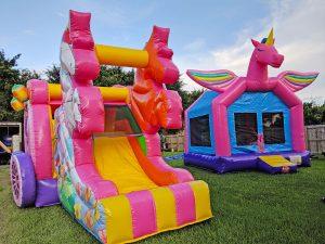 fairytale and unicorn bounce houses
