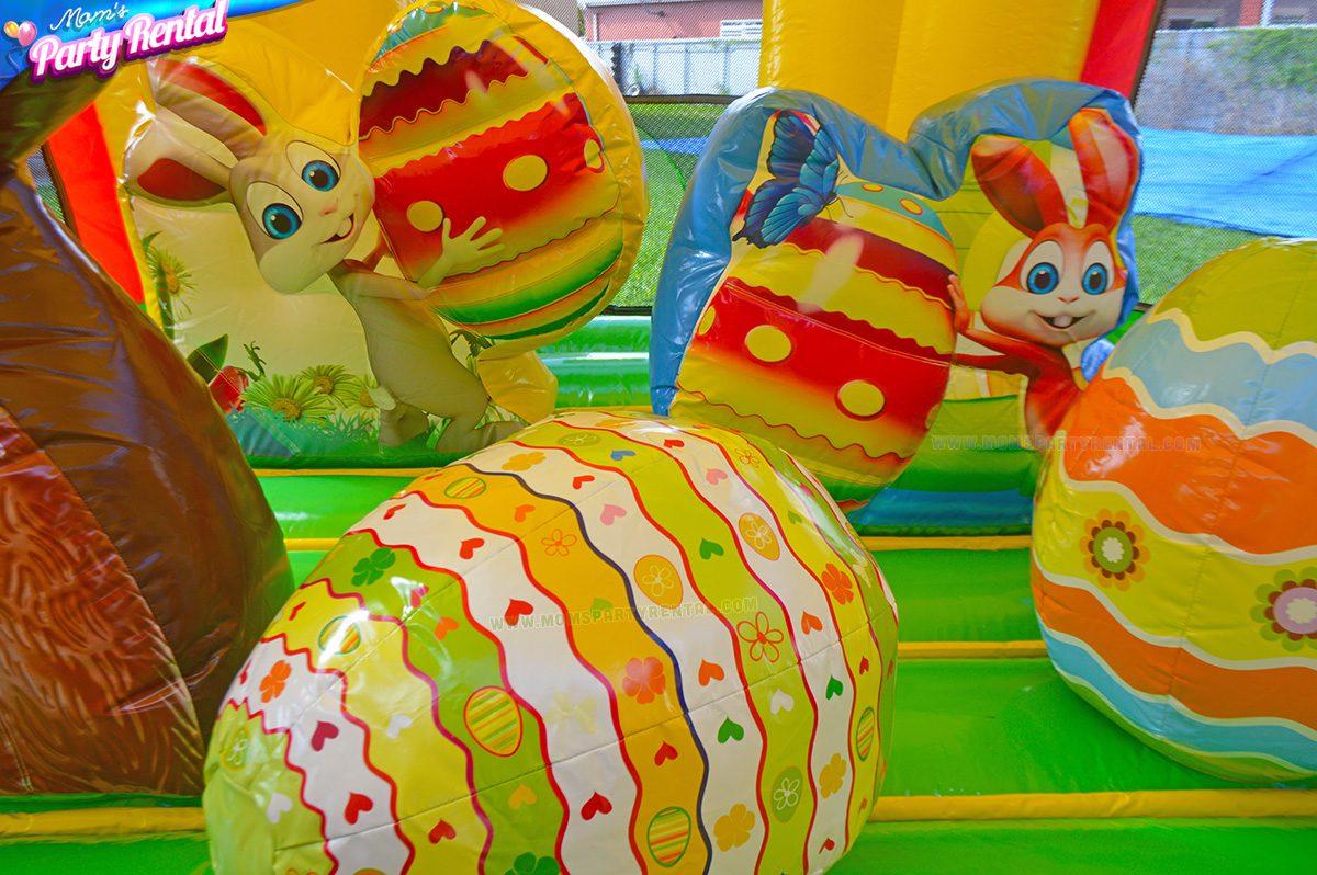 easter eggs bounce house