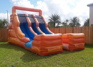 two lanes waterslide rental