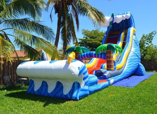 24ft water slide for pool parties in miami