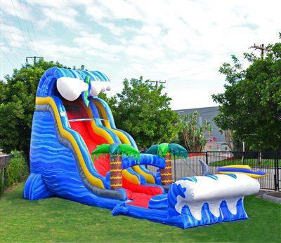 24ft shark themed water slide