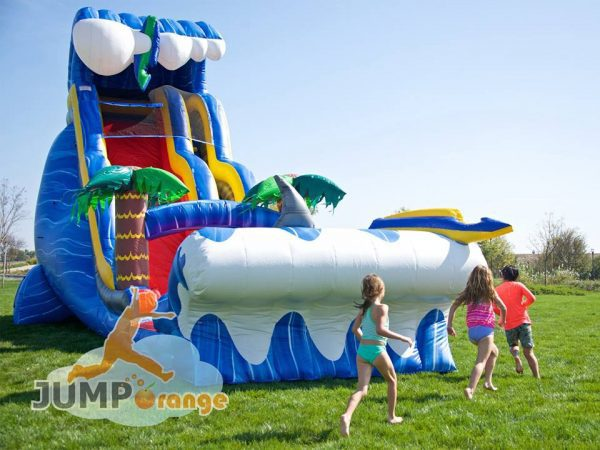 24ft tall water slide birthday party
