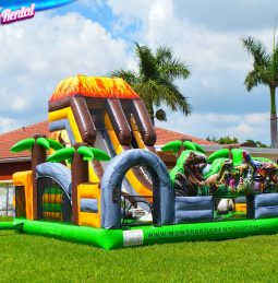 Dinosaur Bounce House & Obstacle