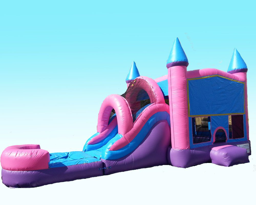 Pink Castle Bounce House & Water Slide