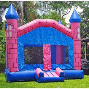 pink castle bounce house rental