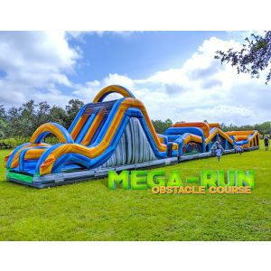 100ft mega run obstacle and slide rental
