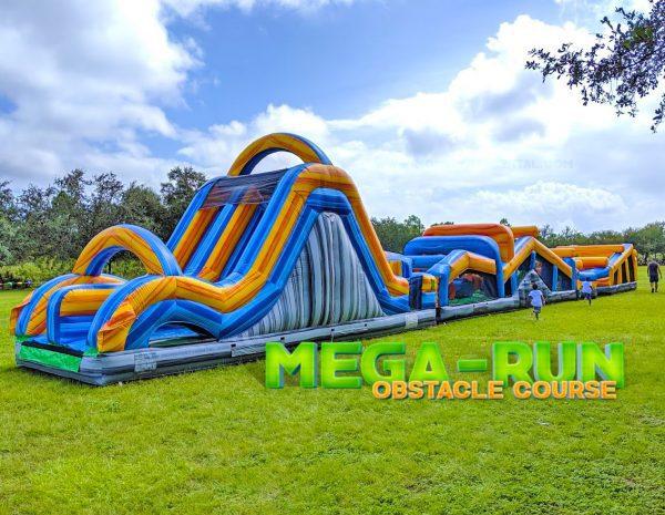 100ft mega run obstacle and slide rental