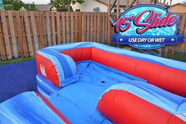 splash pool of 15ft slide