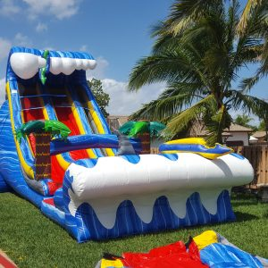 24 ft double lanes water slide rental