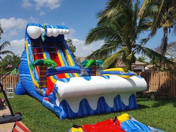 24 ft double lanes water slide rental
