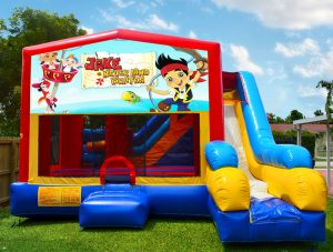 pirates bounce house with slide