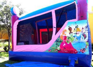 side view of 4in1 princess bounce house