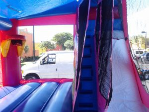 slide of 4in1 princess bounce house
