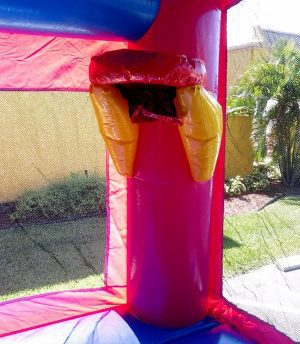 4in1 princess bounce house with basketball hoop