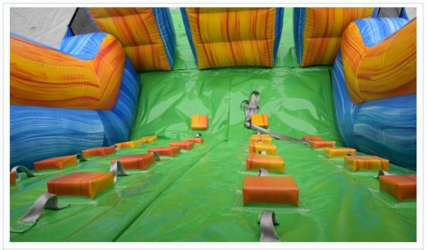 Obstacle Slide with rock climbing
