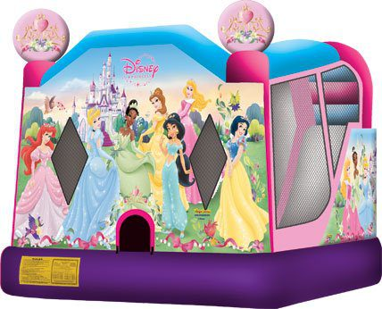 4in1 princess bounce house with slide