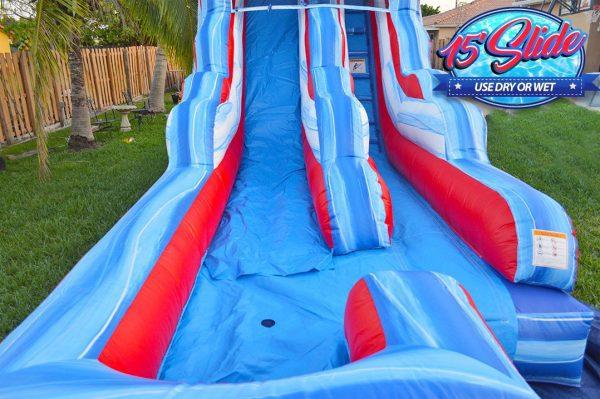 15ft Flash America water slide rental