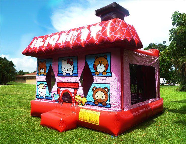 3D Hello Kitty Bounce House