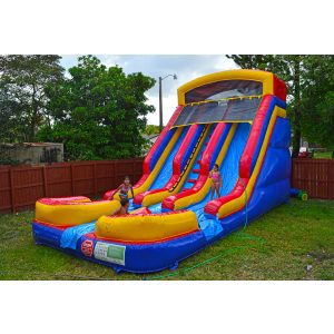 18ft two lanes waterslide