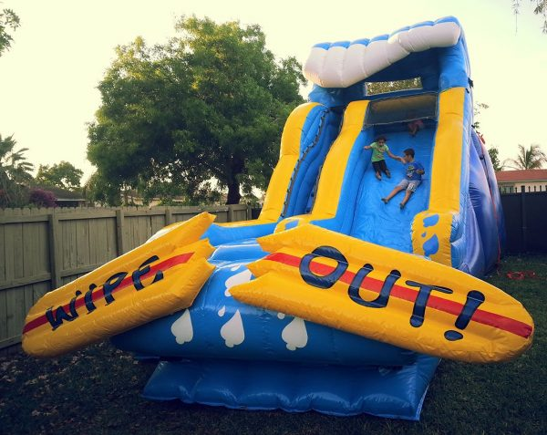 17ft wipeout waterslide
