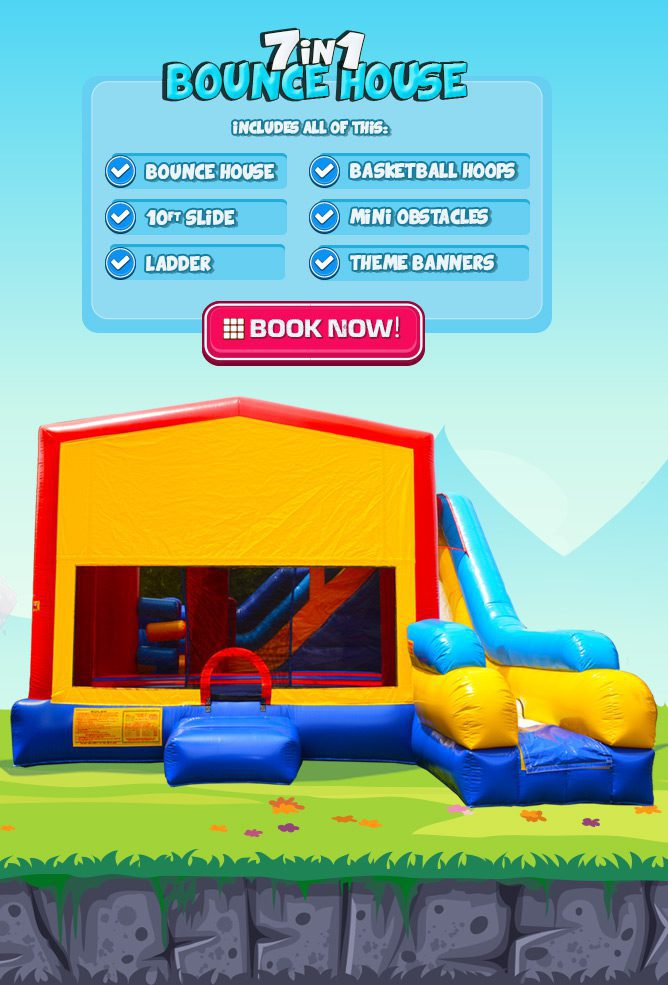 7in1 bounce house with slide