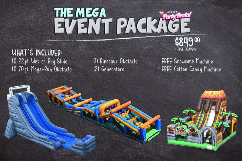 obstacle and slide event package