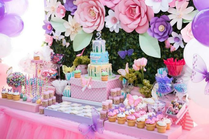 princess table decorations party rental