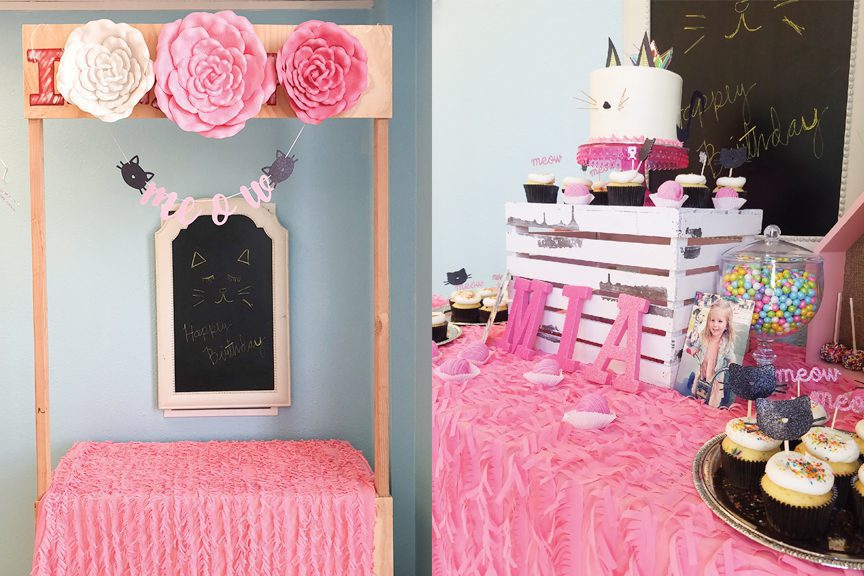 hello kitty table and party decorations