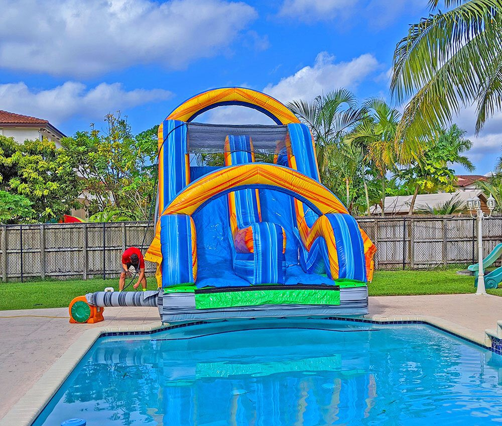 16ft Radical Double-Lane Slide for Pools