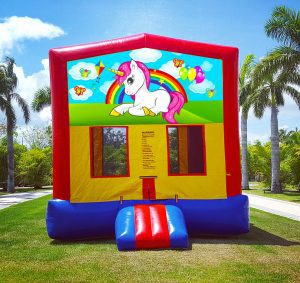 unicorn bounce house rent
