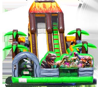 dinosaur bounce house slide rental