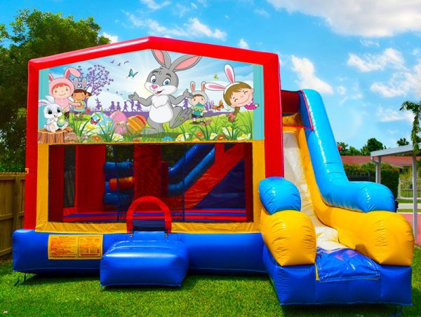 happy easter 7in1 bounce house combo