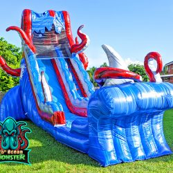 25ft Ocean Monster Slide for Pools