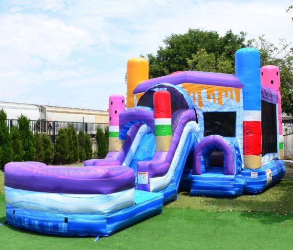 ice pops bounce house with slide