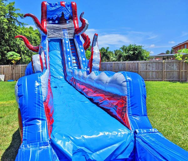 25ft ocean monster water slide rental in miami