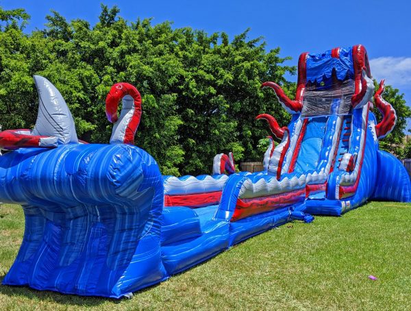 25ft ocean monster waterslide combo 2