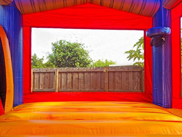 inside rockstar bounce house