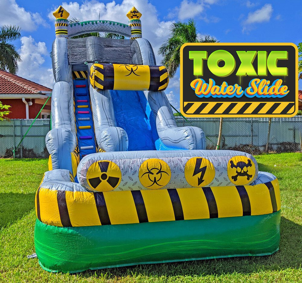 19ft Toxic Water Slide