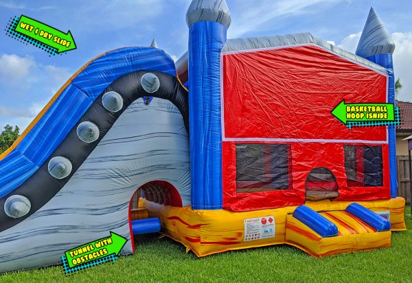 rockstar bounce house features