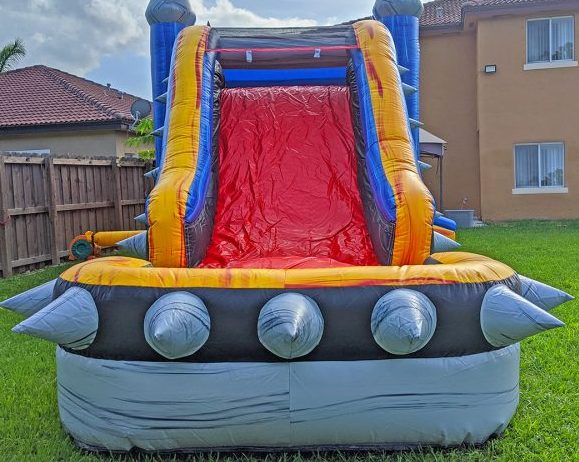 rockstar bounce house slide