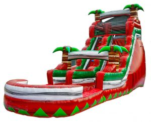 16ft Red Island Waterslide