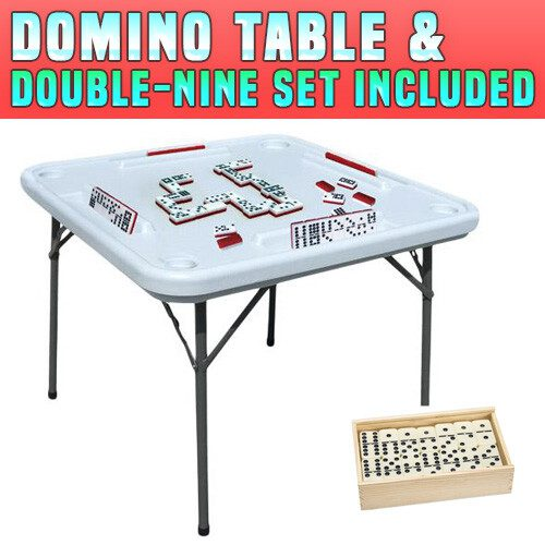 Dominoes Table & Double-9 Set