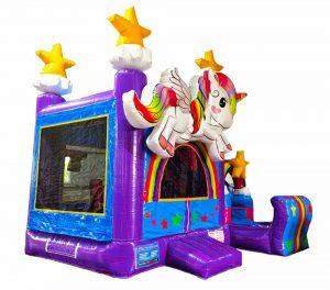 miami unicorn bounce house with slide