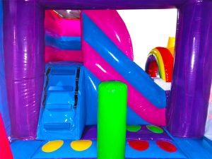 slide of unicorn bounce house