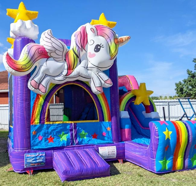 3D Unicorn Bounce House Combo